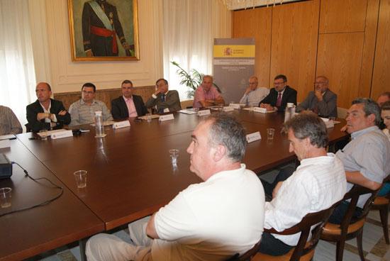 El Director General de Costas, Pedro Ríos, durante la presentación en Castellón