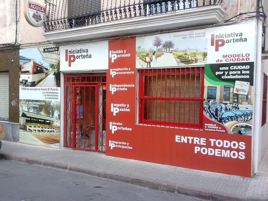 Imagen que presenta la nueva fachada de la sede de Iniciativa Porteña