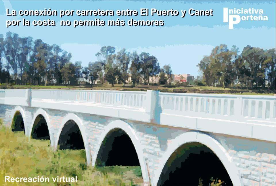 Recreación virtual de un puente que una El Puerto con Canet