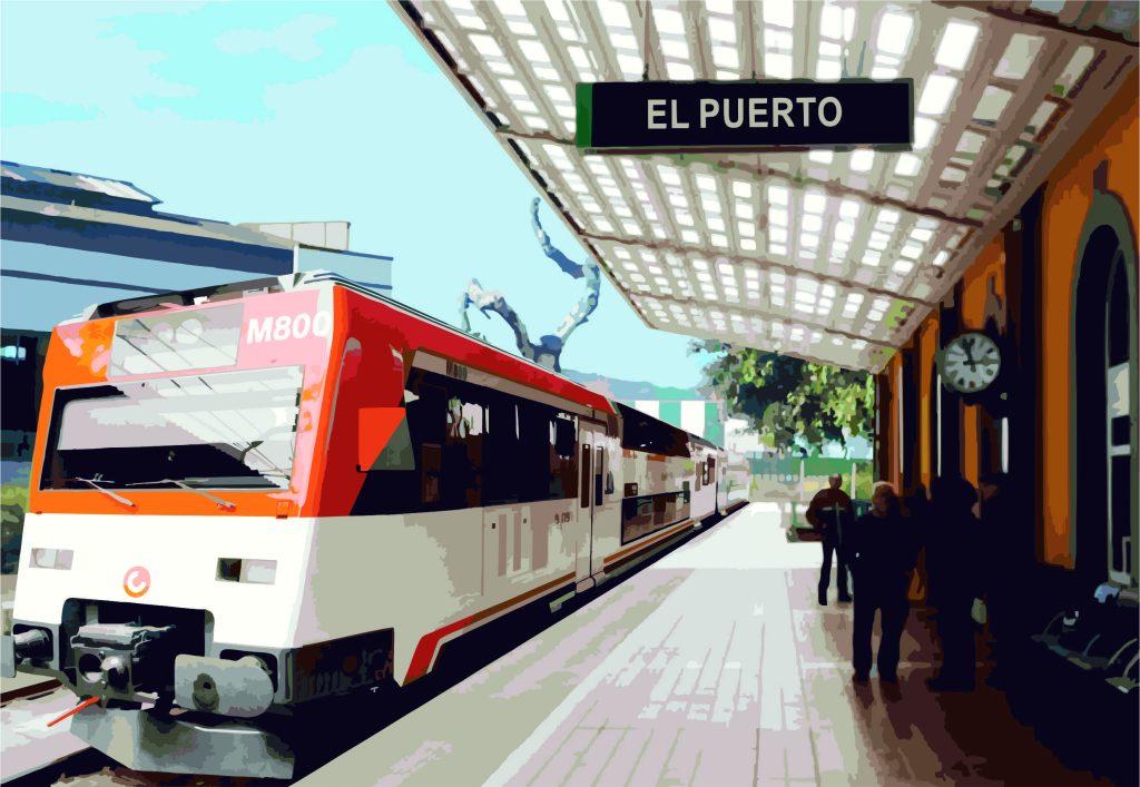 Recreación de la estación en El Puerto