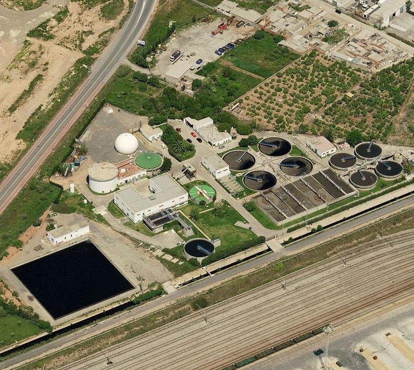 Vista aérea de la actual depuradora en El Puerto (Google Maps)