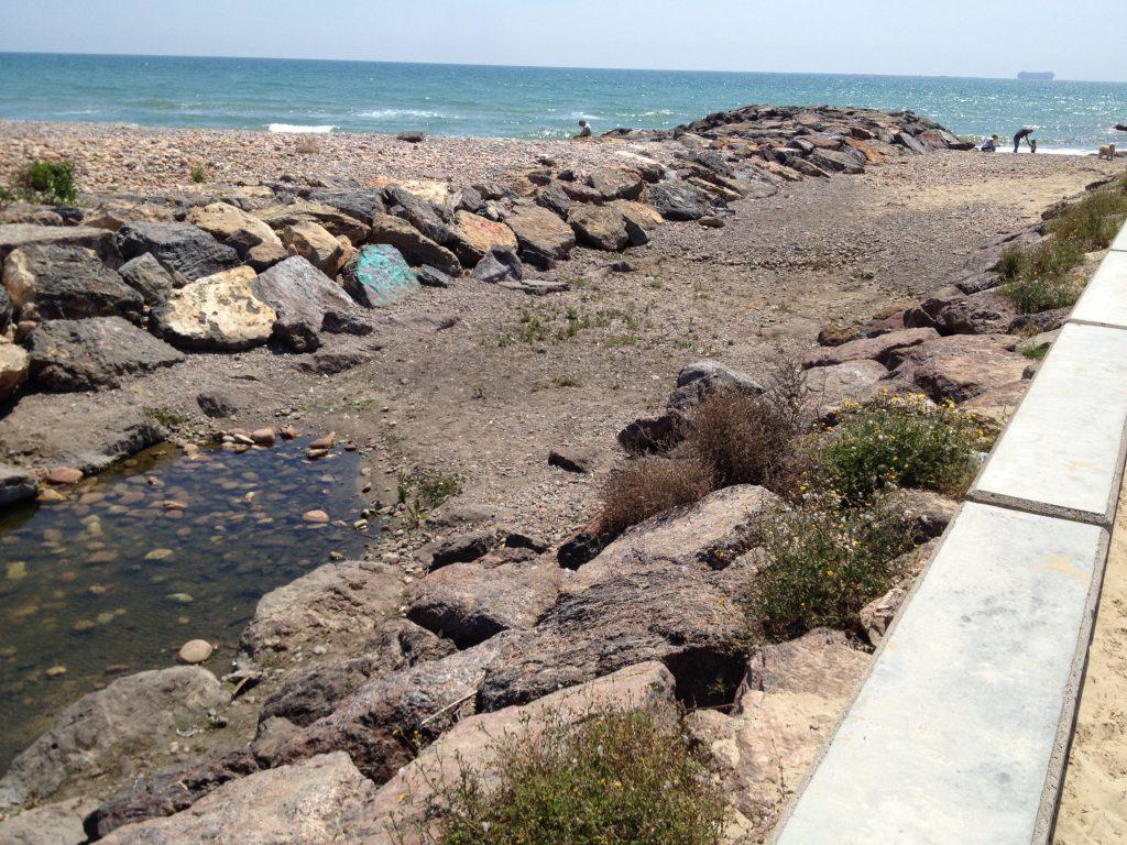 Sedimentos que detienen la salida del agua al mar